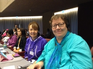 Pam and Vi at the Conference of Parties (COP7)
